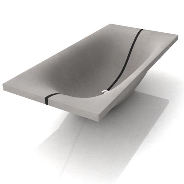 beton badewanne wave. Black Bedroom Furniture Sets. Home Design Ideas