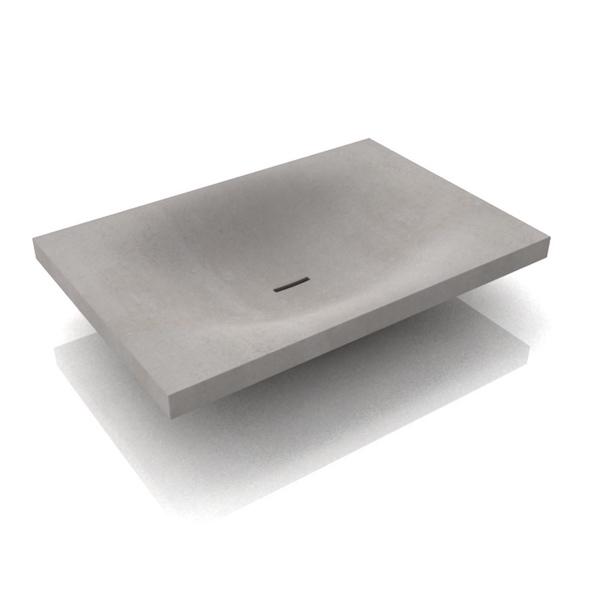 Beton waschbecken wave - Wandgehangtes waschbecken beton trendiges design ...